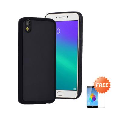 Matte Softcase Casing for Oppo Neo 9 A37 - Hitam + Free Tempered Glass
