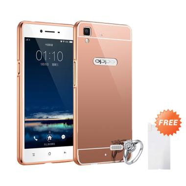 Case Bumper Chrome With Backcase Mi ... old + Free Tempered Glass