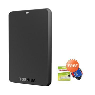 Toshiba Canvio Basic Hard Disk Ekst ... Toshiba + Pouch Hard Disk