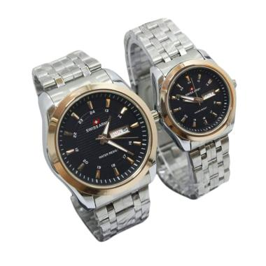 Swiss Army Couple SA3708AD Stainles ... Couple - White Black Gold