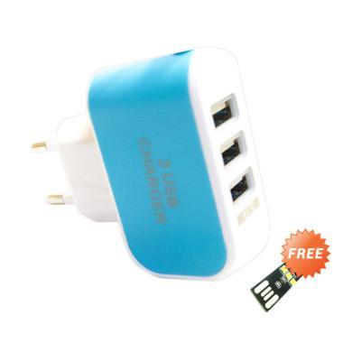 MiiBox Travel Charger MicroUSB LED  ... + Free USB Lampu LED Mini