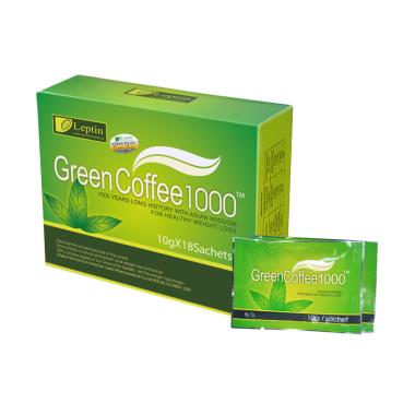 Leptin Green Coffee 1000 Original M ... gsing - 1 Box (18 Sachet)