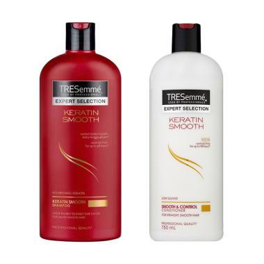 ... Paket Hemat Tresemme Keratin Smooth Shampoo 340 mL & Tresemme Keratin Smooth Conditioner