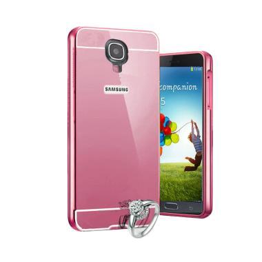 Bumper Mirror Alumunium Metal Sliding Hardcase Casing for Samsung Galaxy Mega 2 G750 - Rose Gold