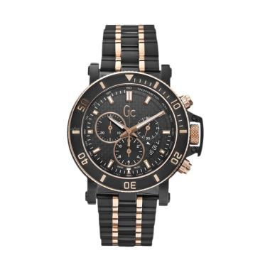 Guess Collection Gc Hommer Chronograph Stainless Jam Tangan Pria X95002G2S - Black Rose Gold