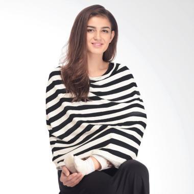 Mooimom Multi Use Nursing Scarf Apr ... Black White Thick Stripes