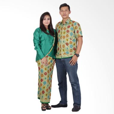 Batik Putri Ayu Solo Sarimbit Moder ... Baju Batik Couple - Hijau