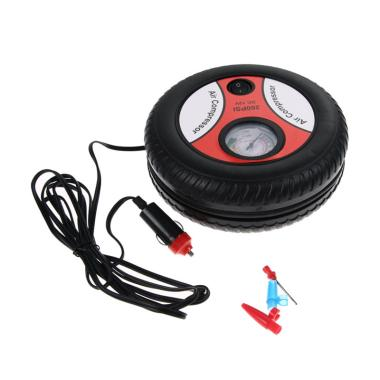 Portable 3 in 1 Mini Tire Inflator Air Compressor Pompa Ban Multifungsi