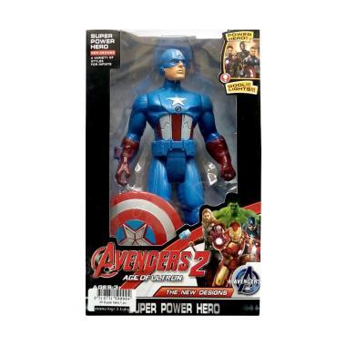 harga Momo Avengers 2 The New Designs Super Power Hero Karakter Captain America Action Figures - Multicolour Blibli.com