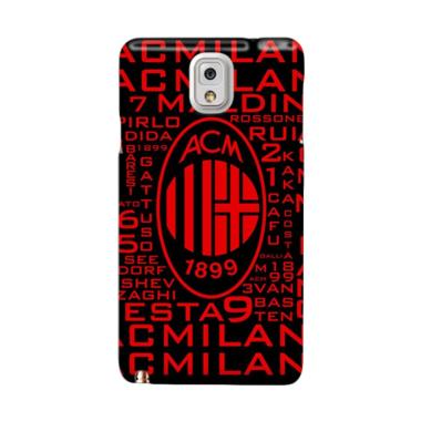 Indocustomcase AC Milan FC Text Bom ... msung Galaxy Note 3 N9000