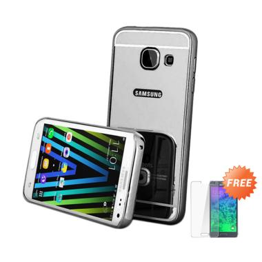 Casemate Mirror Aluminium Bumper with Sliding Casing for Samsung Galaxy A5 A510F 2016 - Hitam +