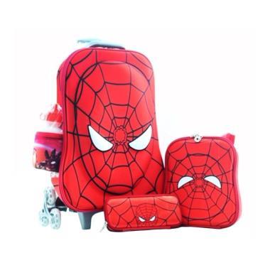 Bravery 4 in 1 Spiderman Muka Timbu ...  Cover Import Tas Sekolah