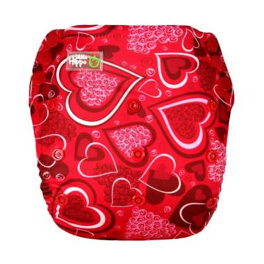 Little Hippo ActiveFit Pants Motif Red Love Clodi Popok Bayi Type Pants .