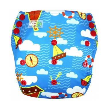 Little Hippo ActiveFit Pants Motif Ship Trip Clodi Popok Bayi Type Pants