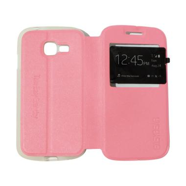 Easybear Flipshell Flip Cover with  ... ase / Leather - Pink Muda
