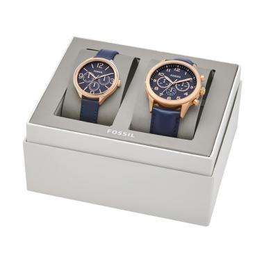 Fossil BQ 2186SET His Chronograph a ... uple Watch - Navy Roegold