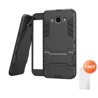 Case88 Shield Armor Kickstand Avenger Series Casing for Samsung Galaxy J2  Pro 2018 - Black + Free Tempered Glass Screen Protector
