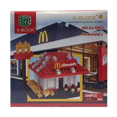 X-Blocks Mc donald's Mainan Blocks