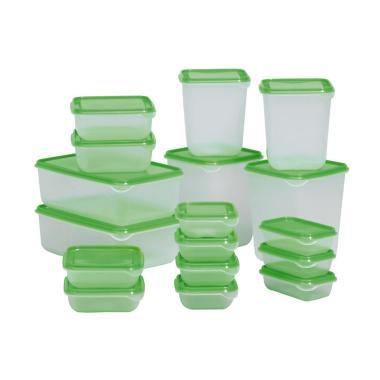 Tempat Box Penyimpanan Makanan Ikea Pruta [17 Pcs]