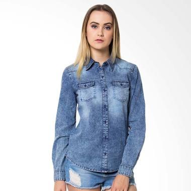Aliska & Co Denim shirt Atasan Wanita