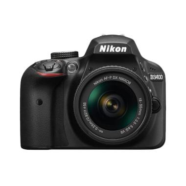 Nikon D3400 AF-P 18-55mm VR Kamera DSLR - Black + Screnguard Terpasang