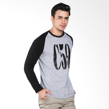 C59 Black LS T-Shirt Pria