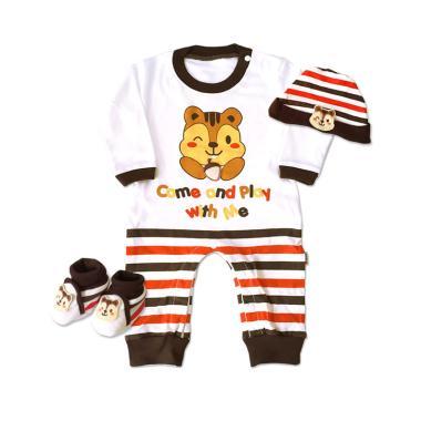 Kiddy 11166 Baby Tupai Set Pakaian Anak- Coklat