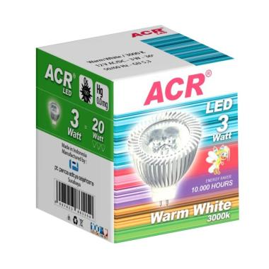 ACR LED 3W - 12V - 3000K - 6 PCS - Warm White Kuning