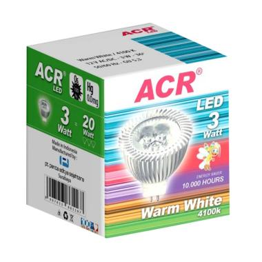 ACR LED 3W - 12V - 4100K - 6 PCS - Warm White