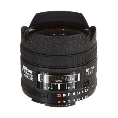 Nikon AF 16mm f-2.8D Fisheye Lensa Kamera