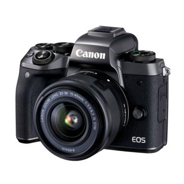 Canon EOS M5 Kit 15-45mm Kamera Mirrorless - Black