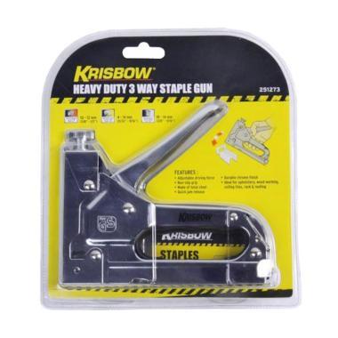 Krisbow Stapler Tembak Gun Tacker - Silver Blast