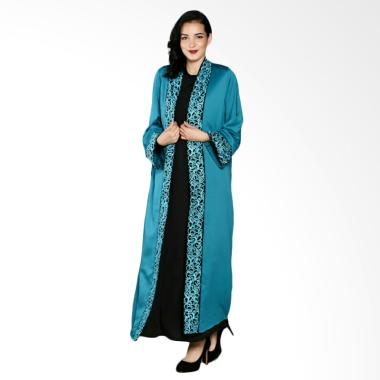 Abaya Cardigan Bordir Gamis Muslim - Black