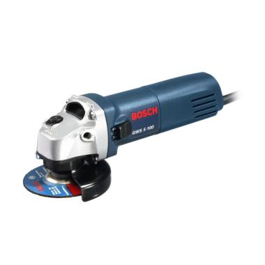 Bosch GWS 5-100 Mesin Gerinda Tangan - Blue White [4 Inch]