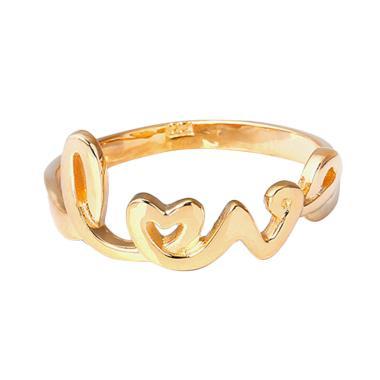 Cincin Emas Kadar 75 perhiasan emas - Love Gold Ring-WHIZLIZ