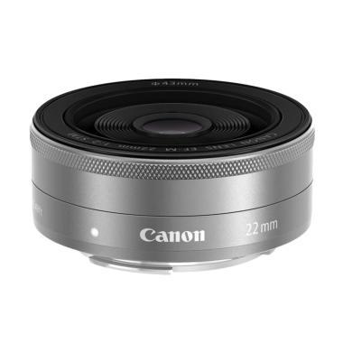 Canon EF-M 22mm F2 STM Lensa Kamera - Silver