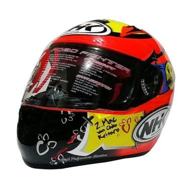 NHK GP Tech Helm Full Face - Red Flou Yellow