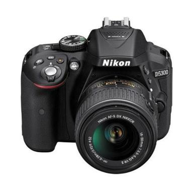 Nikon D5300 Kit 18-55mm VR  Kamera DSLR - Hitam