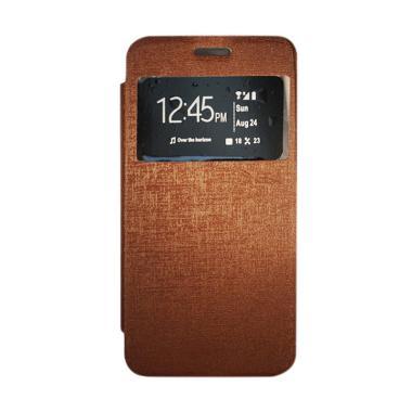 Gea Flip Cover Casing for Vivo Y35 - Coklat