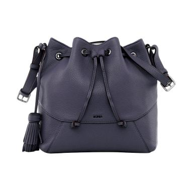 Bonia Gun Metal Classic Bucket Bag - Grey