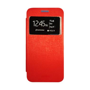 Gea Flip Cover Casing for Lenovo S660 - Merah