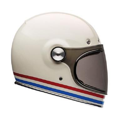 Bell Bullitt Stripe Helm Full Face - White