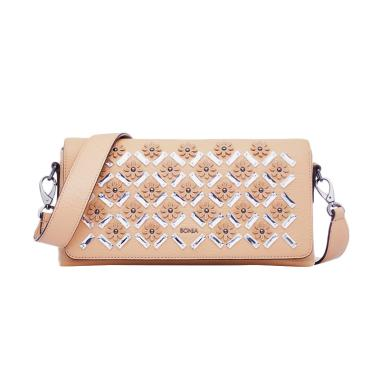Bonia Junia Shoulder Bag Tas Wanita - Dark Beige