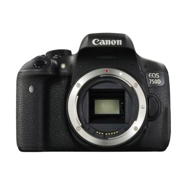 Canon EOS 750D Kamera DSLR - Black [Body Only/Wifi]
