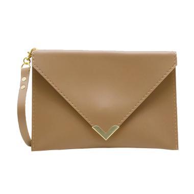 Henmate Luna ZR0101 Clutch Bag - Sephia