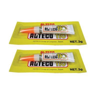 harga Lem Super Glue Alteco 110 [3g/1 pcs] / Lem Serbaguna Untuk Besi Logam Plastik Kayu Sandal Sepatu dan Porselen Blibli.com