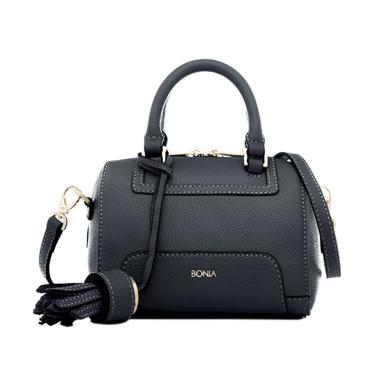 Bonia Picollo Boston Satchel Bag - Dark Blue