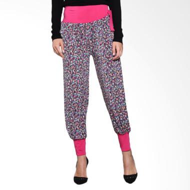 Loe'Style Jogger Long Pants Celana Wanita - Pink