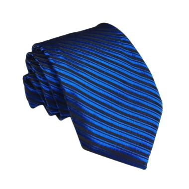 VM Stripe Slim Dasi - Biru [3 Inch]