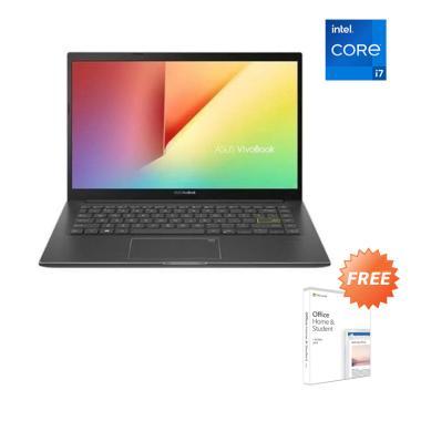 ASUS K413EQ-EB752TS Notebook - Black [I7-1165G7/ 8GB/ 512GB SSD/ MX350/ 14